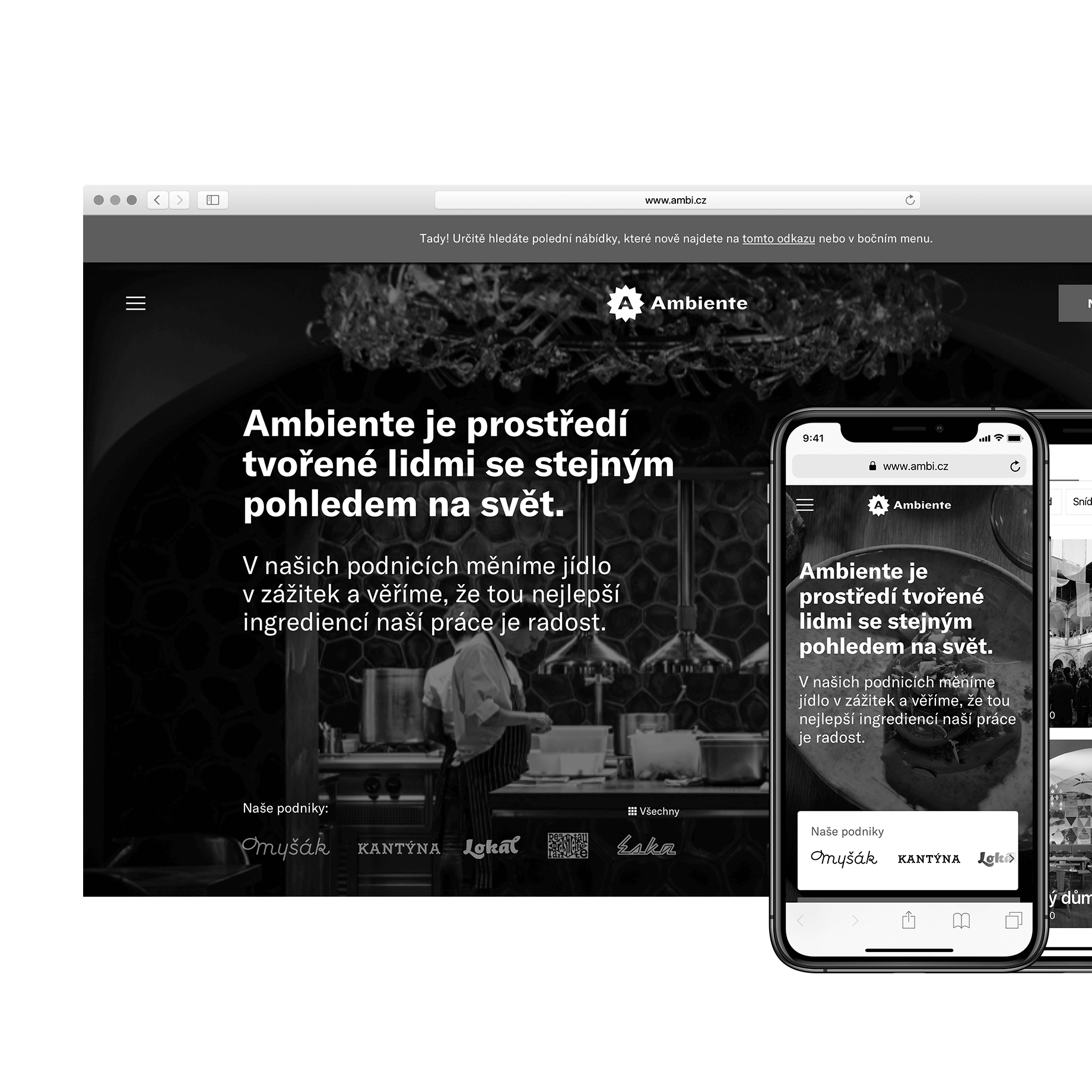 Ambiente – website redesign